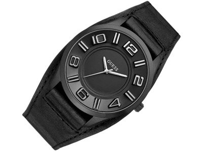 Guess Unisex Analogue Watch with Black Dial Analogue Display - W14542G1