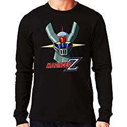 35mm - Camiseta Manga Larga Mazinger Z Ref 2-, Hombre, Negra, M
