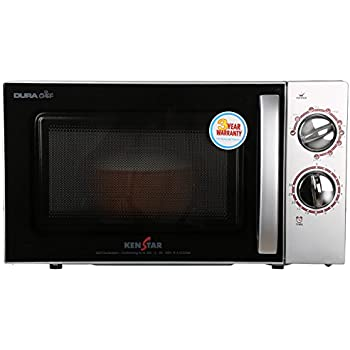 Kenstar 17 L Grill Microwave Oven (KM20GSCN, Silver and Black)