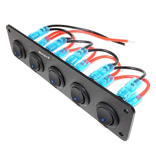 Meipire 5 Panel de interruptores independientes para vehículos de 12 V ~...