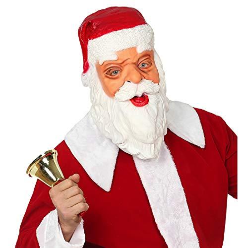 Amakando Originelle Knecht Ruprecht Larve / Ganzkopfmaske / Santa Claus Maske geeignet zu Weihnachtsfeier & Heiligabend -