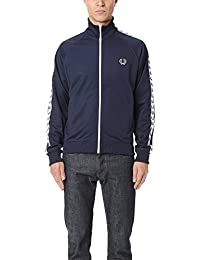 Fred Perry Taped Track Jacket Carbon Blue White, Veste sport