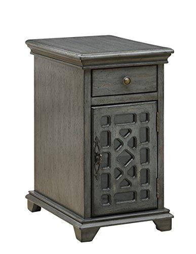 Treasure Trove Accents Schatzkammer Akzente Schublade eine Tür chairside Schrank, Holz, Textur grau -