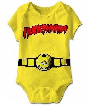 TV Store Hulkamania World Champ Kostüm gelb Kleinkind Onesie Baby Strampler (6 (Hulkamania Kostüm)