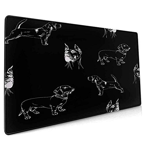 Extended Gaming Mouse Pad Rectangle Mouse Pads,Waterproof Fast and Accurate Control for Gaming and Office All Over Pattern Animal...