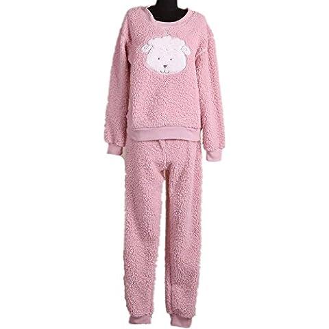 DMMSS Se?oras calientes albornoz Casual manga larga - Inicio servicio de juego de los pijamas