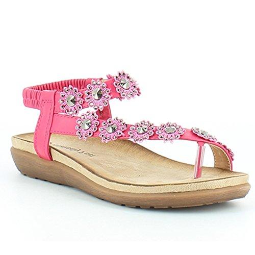 Heavenly Feet , Damen Sandalen Fuchsia