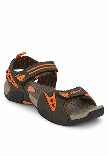 SPARX MEN OLIVE SPORTS SANDAL 440 (8)  available at amazon for Rs.1281
