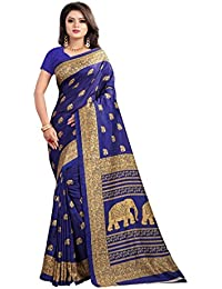 Ruchika Fashion Women's Art Silk Saree With Blouse Piece Material