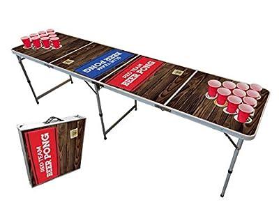 Table Beer Pong Officielle Premium Haute Qualité Version Team Red & Blue - Dimensions Officielles Compétition - Résiste aux Rayures et Éclaboussures - Jeu de Soirée - Jeu à Boire