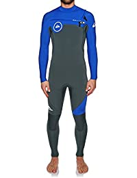 e6b7b51e29309 2018 Quicksilver Syncro Series 3 2mm GBS Chest Zip Wetsuit Gunmetal Royal  Blue EQYW103038