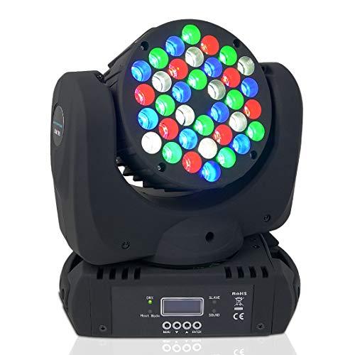 BETOPPER Moving Head Disco Licht Dj Licht Led Mini Moving Head Professionell DMX512 9/16 Kanal 36 * 3W RGBW für DJ Disco Party Lights Restaurant Live Konzert Beleuchtung