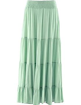 SUNNOW Estilo Casual Falda de Cintura Alta Largo Maxi Falda de Las Mujeres Unido Largo Plisado de la Falda del...