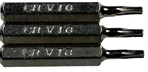 Torx T6 Ersatz-Bits für 4 mm Mini-Sechskant-Schraubendreher oder Power-Driver, 10 Stück - T6 Torx-bit-power