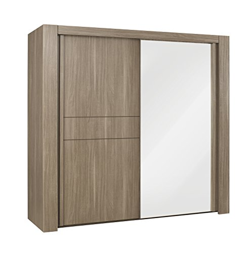 GAMI Armoire 2 Portes coulissantes, Bois, 63 x 249 x 220 cm