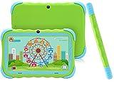 Tablet da 7 Pollici Android 7.1 Tablet IPS HD da 1GB/16GB Babypad Edition PC con Wifi e Fotocamera e Giochi Google Play Store Bluetooth Custodia per Bambini Certificata GMS(Verde)