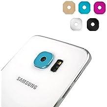 5 PCS Leathlux Para Galaxy S6 Cámara Protector , Moda Colorido Metal Trasera Anillo Funda lente Para Samsung Galaxy S6 SM-G920 In 5 Colores (Negro Azul Pink Plata Golden)
