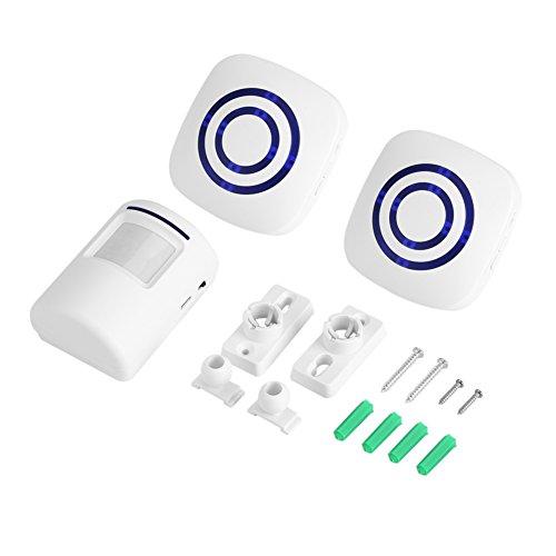Drahtlose Detektor Eintrag Türklingel Infrarot Sensor Bewegung Alarm Alarm mit Empfänger und Sender 38 Chime Tunes LED Indikatoren(2+1 EU) - Chime Sender