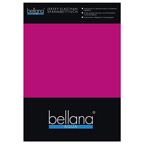 bellana AQUA Jersey Multifunktions-Spannbettlaken für Wasserbetten in Normal- und Übergrößen, 90-100-120x200-220 cm in fuchsia