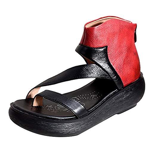 DQANIU- Damenschuhe, Tasche & Schuhzubehör - Damen Sandalen Damenmode Lässig Bequem Große Keile Gemischte Farben Sandalen Schuhe