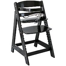 ROBA Sit Up III - Trona de madera, color negro