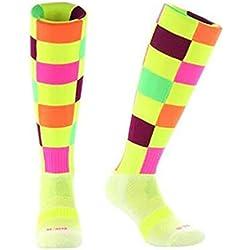 Samson FUNKY medias luminoso calcetines de diseño de cuadros de la selección de fútbol de manga corta para hombre COLOR pantalones de deporte para mujer calcetines de KID balón de fútbol sala, color CHECK ILLUMINOUS, tamaño Medium 3 - 6