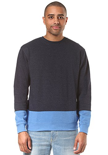 Herren Sweater DC Rebel Lo Block Crew Sweater (Fischgräten-gerippter Pullover)