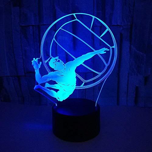 Optische Täuschung 3D Volleyball Nacht Licht 7 Farben Andern Sich USB Adapter Touch Schalter Dekor Lampe LED Lampe Tisch Kinder Brithday weihnachten Geschenk