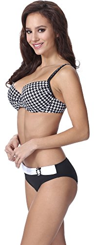 Feba Figurformender Damen Push Up Bikini F01 Muster-303