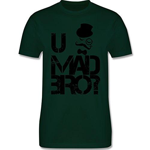 Hipster - U MAD BRO? - Herren Premium T-Shirt Dunkelgrün