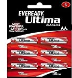 6Pc Eveready Ultima Alkaline AA Cell Battery
