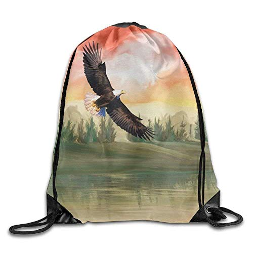 Funny shirt Drawstring Backpack Rucksack Shoulder Bags Bald Eagle Drawstring  Backpack Rucksack Shoulder Bags Training Gym Sack e0caaae893935