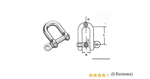A4 D /à anse Lot Taille 6/mm en acier inoxydable 316/ 2