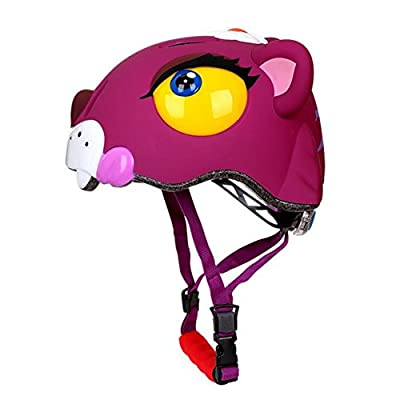 Childrens Safety Helmet for Cycling Skating Scooter Bike Skateboard Xmas Gift, Kids BMX Skates Stunt Bikes Helmet in Animal Design Donkey, White Shark, Tiger and Dinosaur, Age 3 - 8 Years Girls Boys by West Biking