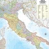 Carta geografica murale Belletti - Italia - 122x97 cm - aste in legno - M08PL/07