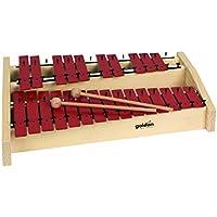Goldon 11144 platos de sonido metalófono octava - rojo