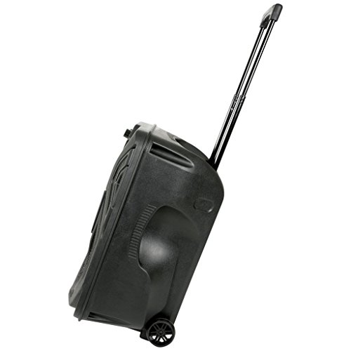 QTX QK12PA Portable 12-Inch Busker PA Speaker System with Rechargeable Battery, Wireless Microphone, Bluetooth and MP3…