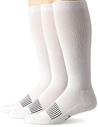 Wrangler Mens Western Boot Socks, White, X-Sock Size:10-13/Shoe Size: 6-12(Pack of 3)