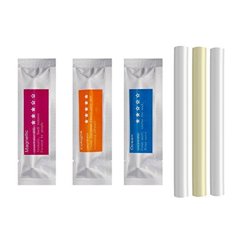 Nachfüller für Lufterfrischer massiv, Ersatz Aroma Bars-Aroma 3Schwamm Sticks (Köln, ocean, magnetisch) - Parfum Köln
