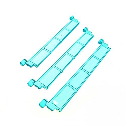 Preisvergleich Produktbild 3 x Lego System Rolltor Lamelle transparent hell blau ohne Griff Tür Element Garage 4218