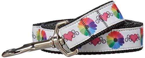 mirage-technicolor-love-nylon-nastro-collare-con-guinzaglio