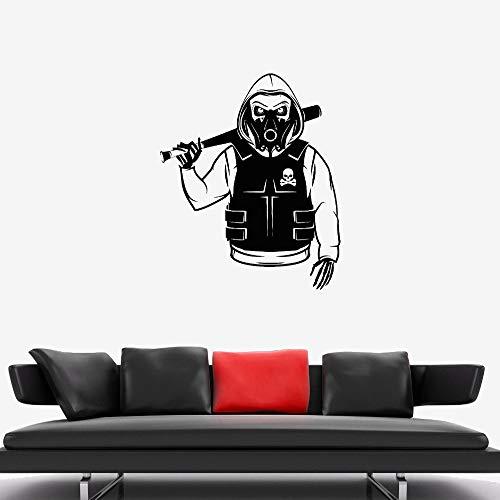 Zhuhuimin Teens Room Cool Wandtattoo Schädel Skelett Rebel Marauder Bandit Camouflage Vinyl Abnehmbare Aufkleber Art Interior Wall Decor 1 56x69cm (Camouflage-lampen Für Wohnzimmer)