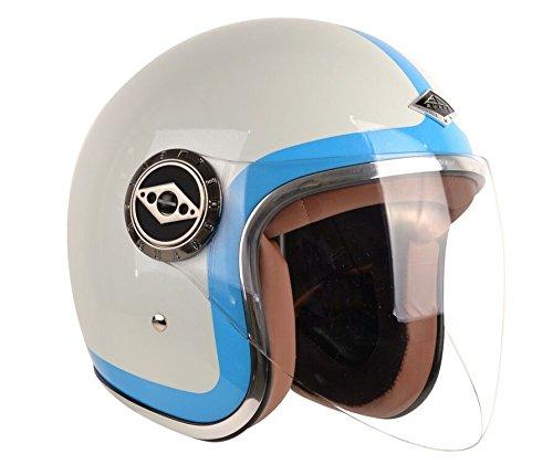 EDGUARD Casco Jet Moto, Héritage Azul, S/55-56 cm