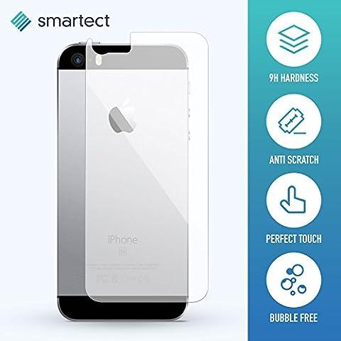 [Rückseite] Panzerglas Folie für iPhone SE / 5s / 5 / 5c • Panzerfolie mit 9H Härte • Blasenfreie Montage der Folie • Ultra-Dünn (0.3 mm) • Gerundete Kanten (2.5D) • Displayschutzfolie mit Anti-Fingerabdruck