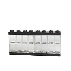 LEGO - Caja de almacenaje para minifiguras con diseño de ladrillo 16, color negro (Room Copenhagen #40660003)