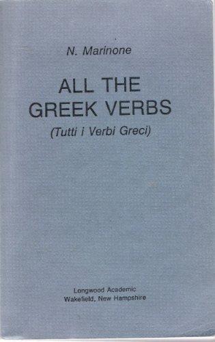ALL THE GREEK VERBS Tutti Verbi Greci
