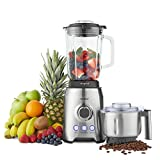 VonShef 1000W Glass Jug Food Blender Smoothie Maker - Ice Crushing & Pulse