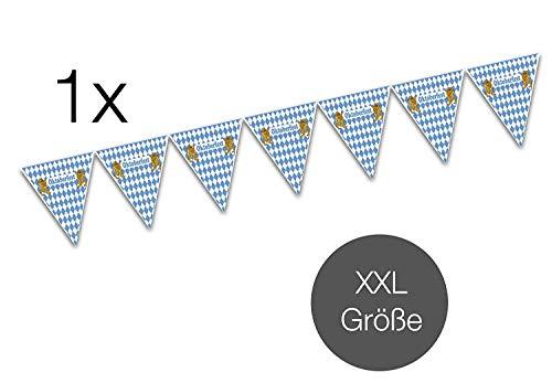 TK Gruppe Timo Klingler Oktoberfestdeko XXL Banner Wimpel 500 cm Wimpelkette Wiesen Wiesn Deko Dekoration Oktoberfest Cannstatter Wasen