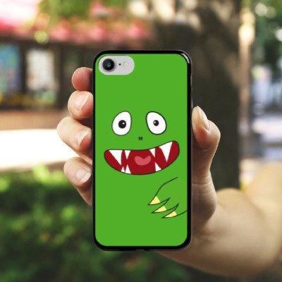 Apple iPhone X Silikon Hülle Case Schutzhülle Monster Kids Kinder Hard Case schwarz