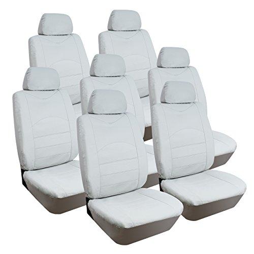 Sitzbezug-Sitzbezge-Auto-VAN-Schonbezge-Universal-einzelsitzbezug-Kunstleder-Creme-7x-Einzel-Sitze-AS7235be-7